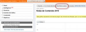 Informe personalizado oculto panel 300x112 Google Analytics Informe Personalizado con Filtro Avanzado de Otra Dimension