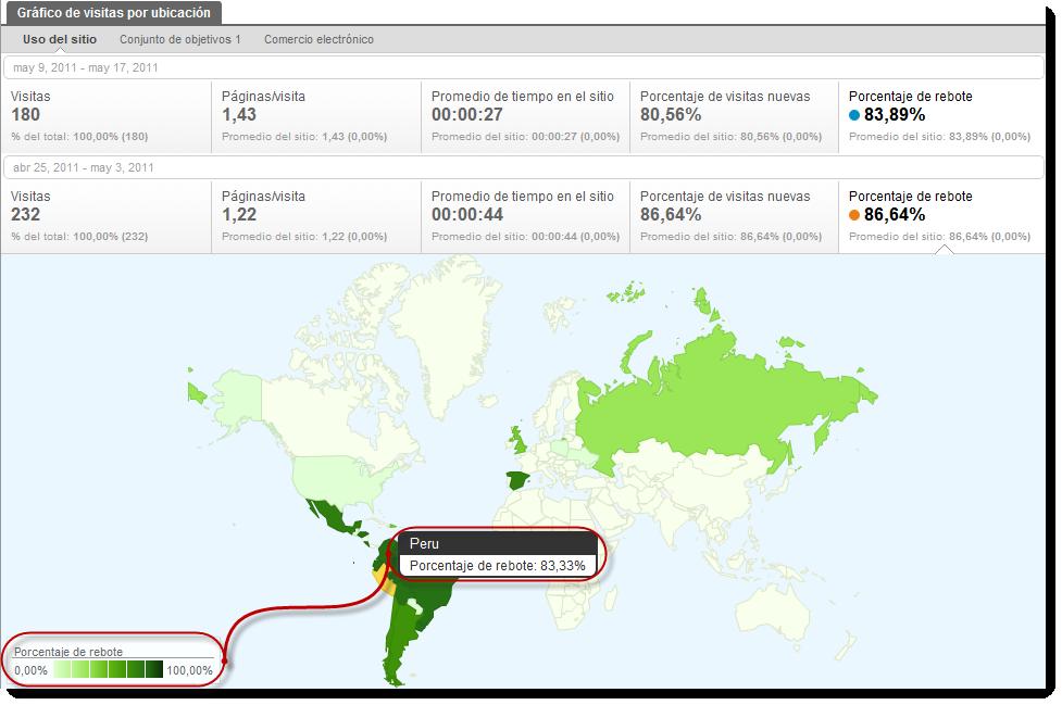 visitas ubicacion google analytics rebotes Google Analytics geolocaliza nuevas métricas