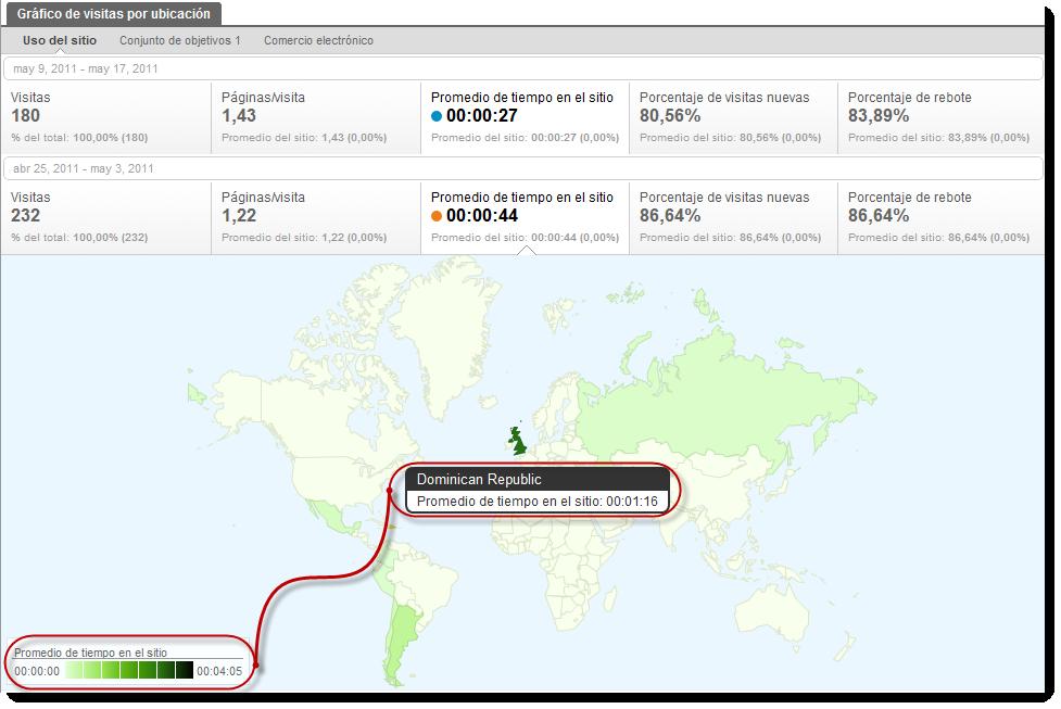 visitas ubicacion google analytics tiempo sitio Google Analytics geolocaliza nuevas métricas