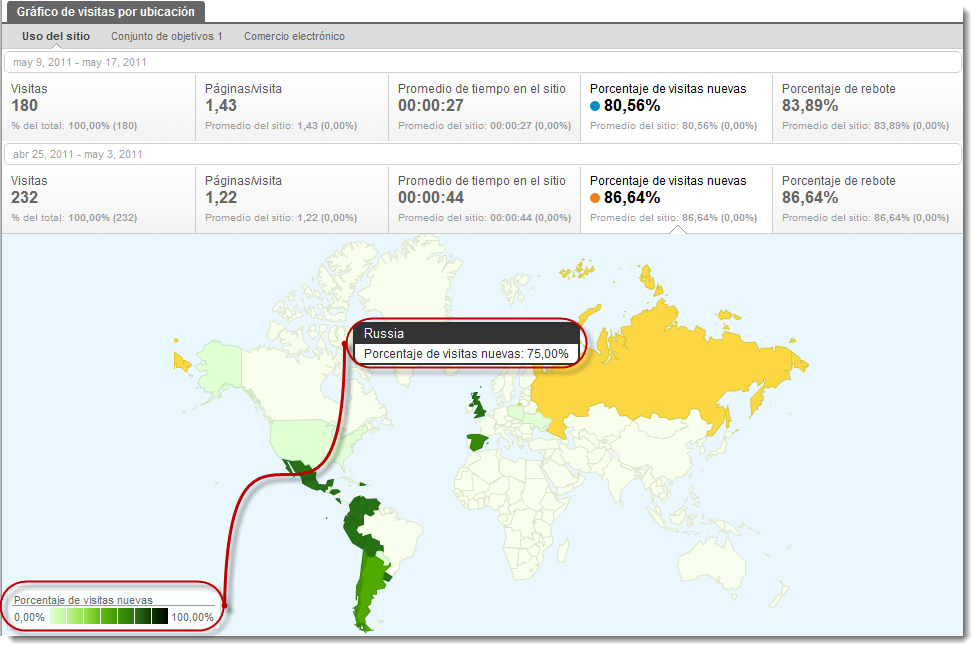 visitas ubicacion google analytics visitas nuevas Google Analytics geolocaliza nuevas métricas