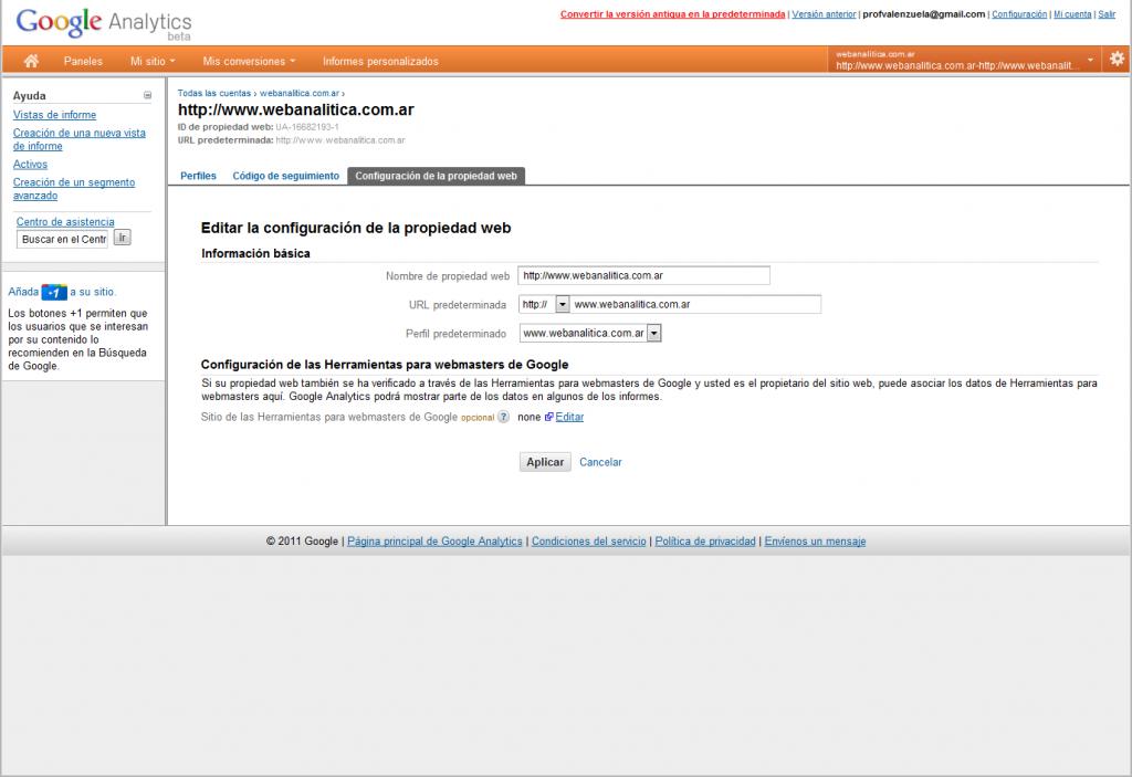 googleanalytics webmaster tools 01 1024x703 Asociacion: Google Analytics & Google Webmaster Tools