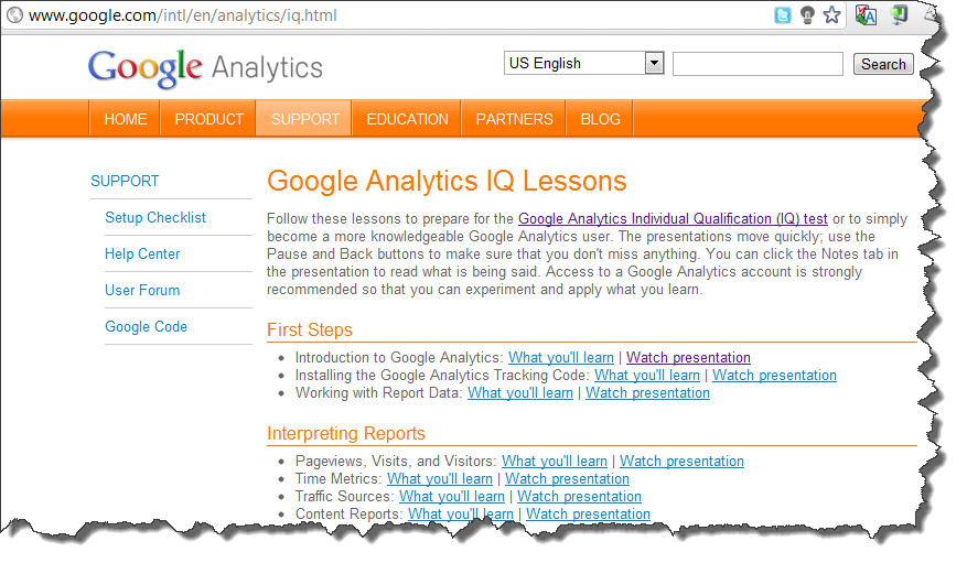 Examen google analytics IQ V5