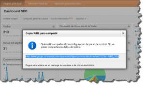 Dashboard SEO Google Analytics Compartir panel de control link 300x177 Comparte tu Dashboard Personalizado en Google Analytics