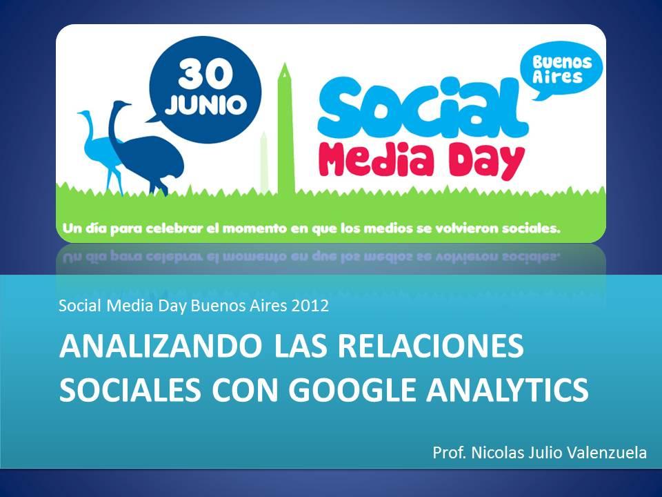 Analizando las Relaciones Sociales con Google Analytics Social Media Day Buenos Aires 2012