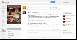 comunidad google analytics espanol 300x156 Comunidad de Google Analytics en español de Google+