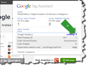 tag assistant googleanalytics espanol vision status1 300x229 Tag Assistant (by Google): para que sirve
