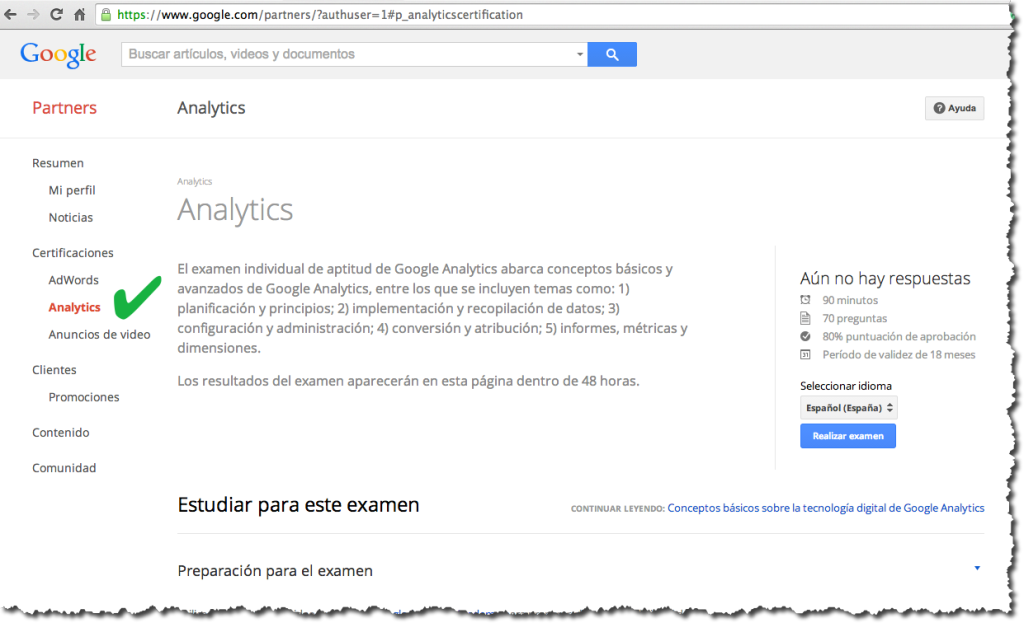 curso de google analytics 1024x623 Examen Google Analytics en español